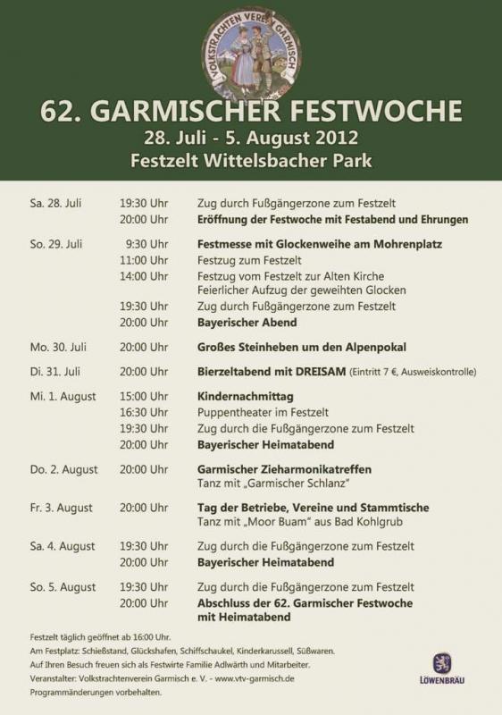 120728-120805 Bierzelttermine - Plakat